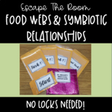 Escape the Room-Food Webs and Symbiotic Relationships MS-LS2-2 MS-LS2-3