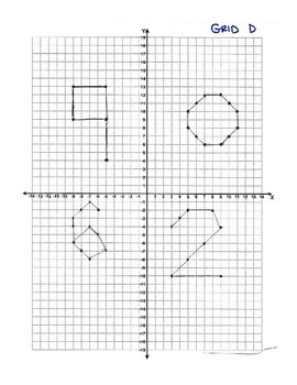 Escape the Room - Four Quadrant Coordinate Grids