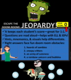 Escape the Room Jeopardy: Causes of The Civil War