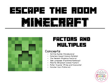 Escape the Room: Minecraft - Factors and Multiples (4th Grade)