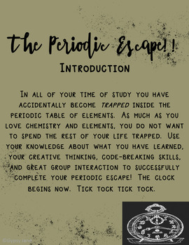 Escape the room periodic table by gypsy jane tpt escape the room periodic table urtaz Images