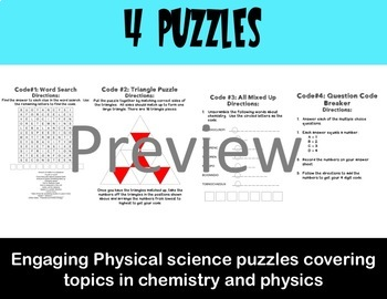 Escape the Room Physical Science Review Game
