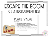 Escape the Room: CIA - Place Value, Addition, and Subtraction (4th Grade)