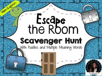 Escape the Room Scavenger Hunt Alien Edition Riddles and MMW