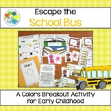 Escape the School Bus! Color Sorting and Identification Activity