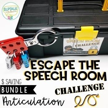 Escape the Speech Room Articulation Challenge: COMPLETE BUNDLE