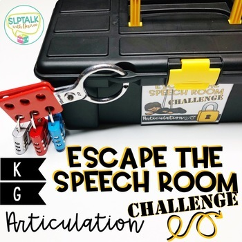 Escape the Speech Room Articulation Challenge: K and G