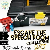 Escape the Speech Room Articulation Challenge: S, Z and S Blends