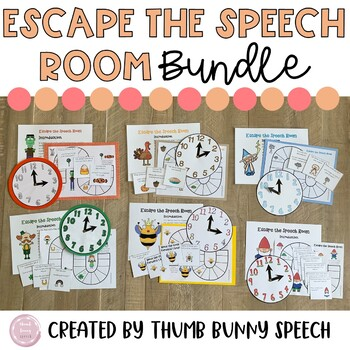 Escape the Speech Room Bundle - Activities for the Whole Year!