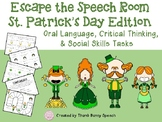 Escape the Speech Room: St. Patrick's Day - Critical Thinking & Social Skills