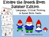 Escape the Speech Room: Summer/Gnomes - Critical Thinking & Social Skills