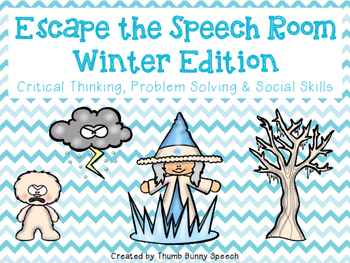 Escape the Speech Room: Winter - Critical Thinking, Problem Solving & Social