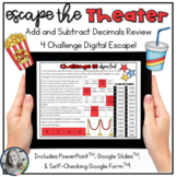 Decimal Addition and Subtraction Review Digital Escape Activity