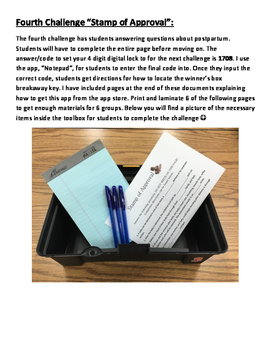 Escape the Womb ~ A FACS classroom escape/breakout style lesson!