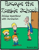 Escape the Zombie School (Variables in Equations-Digital Breakout)