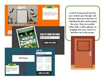 Escape the Zombies (Escape room for high school students)