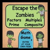 Factors, Multiples, Prime and Composite Numbers -  Zombie Game