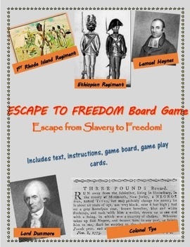 African Americans in the Revolutionary War board game, inc