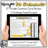 Escape to Summer 5th grade Math Common Core Standards Review