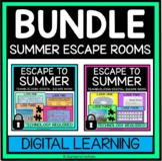 Escape to Summer Digital Escape Room Bundle for end of year graduation