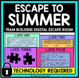 Escape to Summer Digital Escape Room Distance Learning graduation end of year