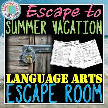 Escape to Summer Vacation ELA Escape Room