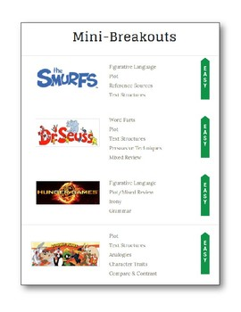 EscapeEdventures Digital Breakouts:  Mini-Breakouts