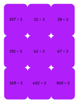 Escaped on the Playground Multiplication and Division game cards