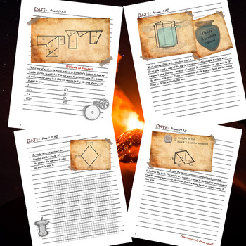 Escaping Pompeii- 6th Grade Geometry Unit Review