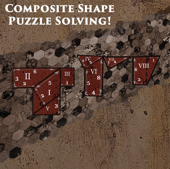 Escaping Pompeii Freebie  - Area of composite figures online math game