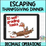 Escaping Thanksgiving Dinner-Decimal Operations
