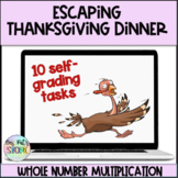 Escaping Thanksgiving Dinner-Whole Number Multiplication