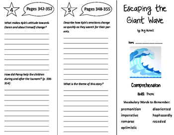 Escaping the Giant Wave Trifold - Storytown 6th Grade Unit 3 Week 3