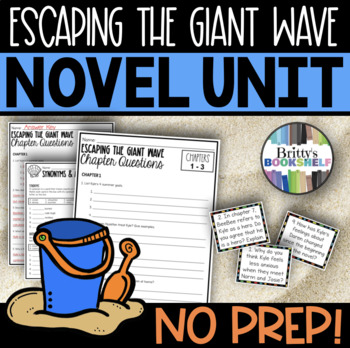 Escaping the Giant Wave by Peg Kehret Literature Unit (A Novel Study)