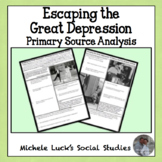 Escaping the Great Depression Primary Source Analysis Hand