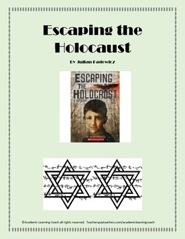 Escaping the Holocaust by Julian Padowicz - Novel Packet with Enrichment Sheets