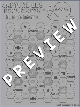 Escargot Conjugation Game: AVOIR