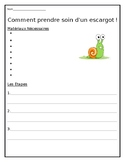 Escargot Small Animal Care Sheet