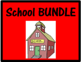 Escola School Objects and Subjects in Portuguese Bundle