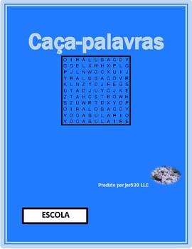 Escola (School in Portuguese) Wordsearch
