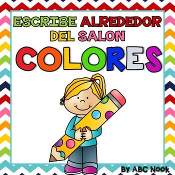 Escribe Alrededor del Salón: Colores