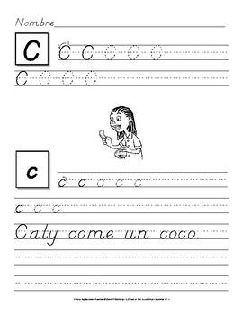 Escribe Letras y Oraciones: Ejercicios para Practicar la Letra D´nealian