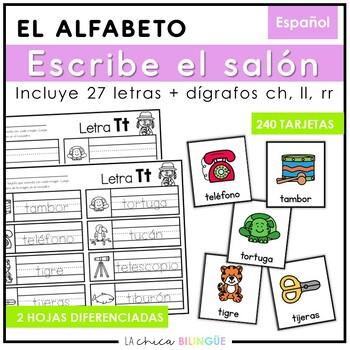 Escribe el Salón: Sonidos Iniciales (Spanish Write the Room: Beginning Sounds)