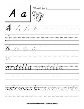 Escribe las Letras del Alfabeto: Ejercicios para Practicar la Letra D´nealian