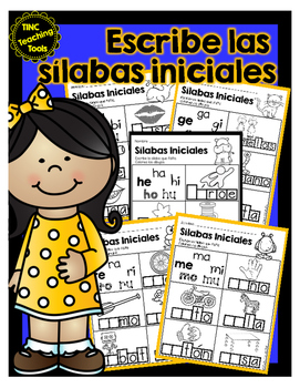 Escribe las sílabas iniciales / Write the Beginning Syllable