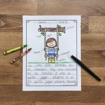 Escribe, pon etiquetas y colorea 4 Seasons Bundle