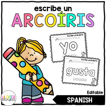Escribe un arcoiris / Rainbow Write Spanish High Frequency Words