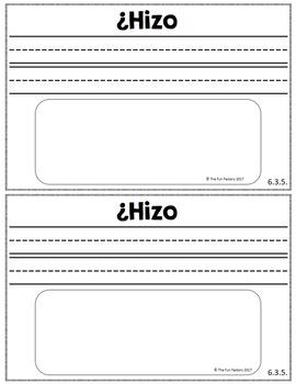 Escribiendo Diariamente en Kinder ~ February ~ Spanish Kindergarten Writing