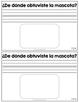 Escribiendo Diariamente en Kinder (March) Spanish Kindergarten Writing