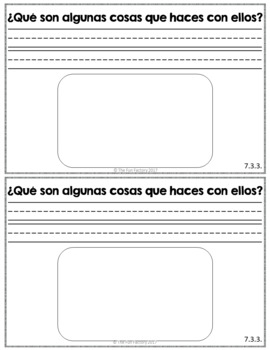 Kindergarten Writing NO PREP Escribiendo Diariamente en Kinder March Spanish